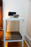 stool as bedside table