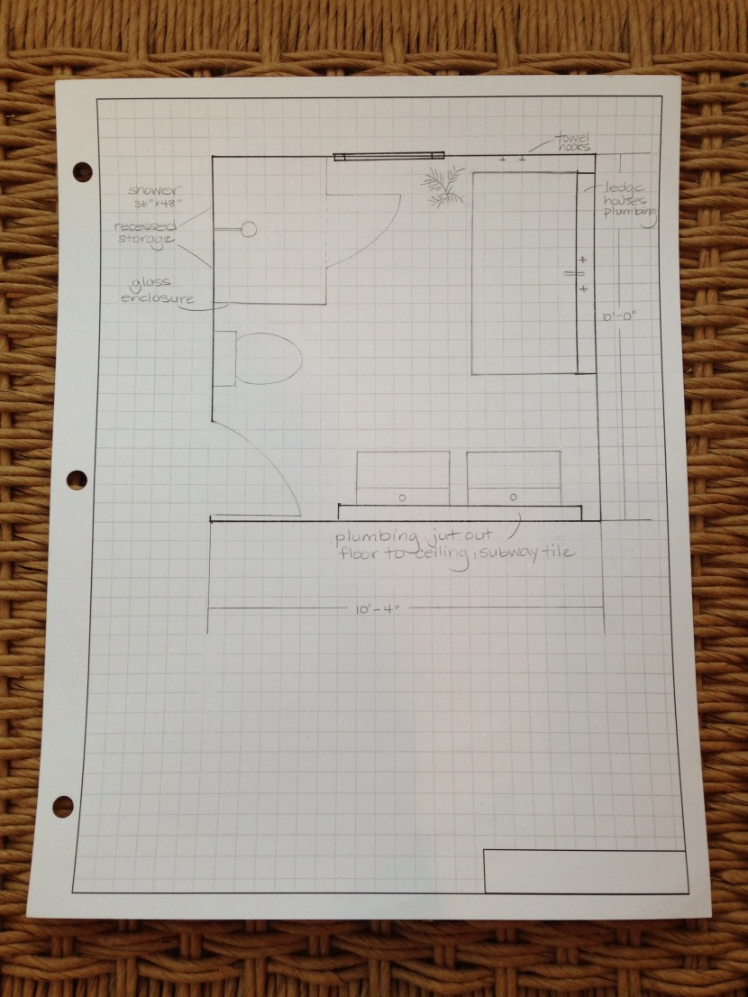 new bathroom plan