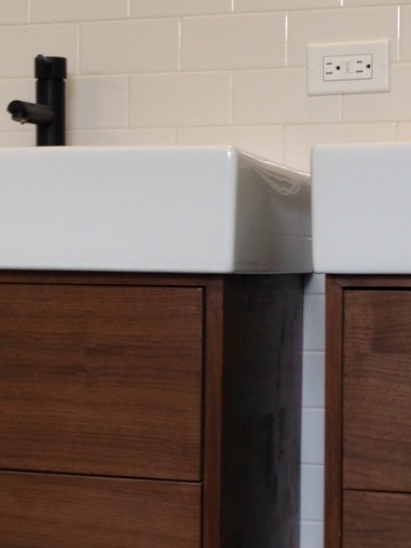 walnut vanities