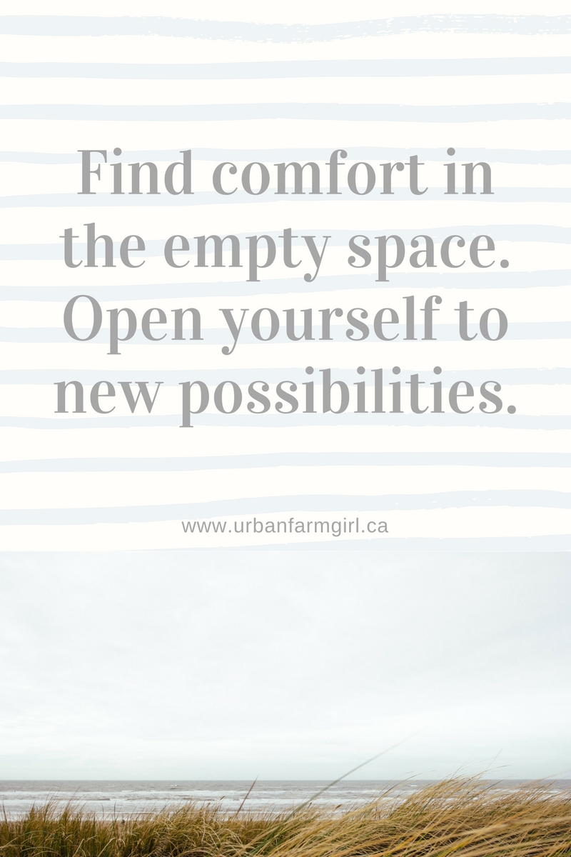 find comfort in the empty space