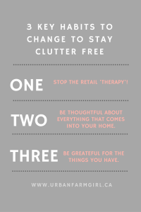 3 key habits to stay clutter free