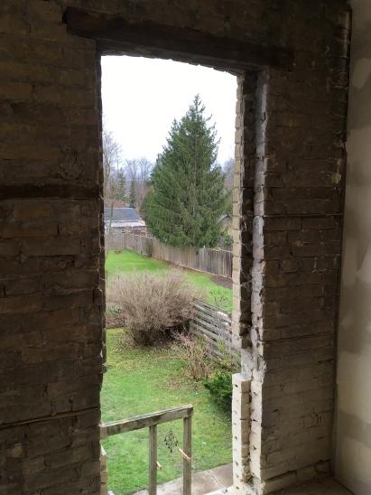 view from new door opening!